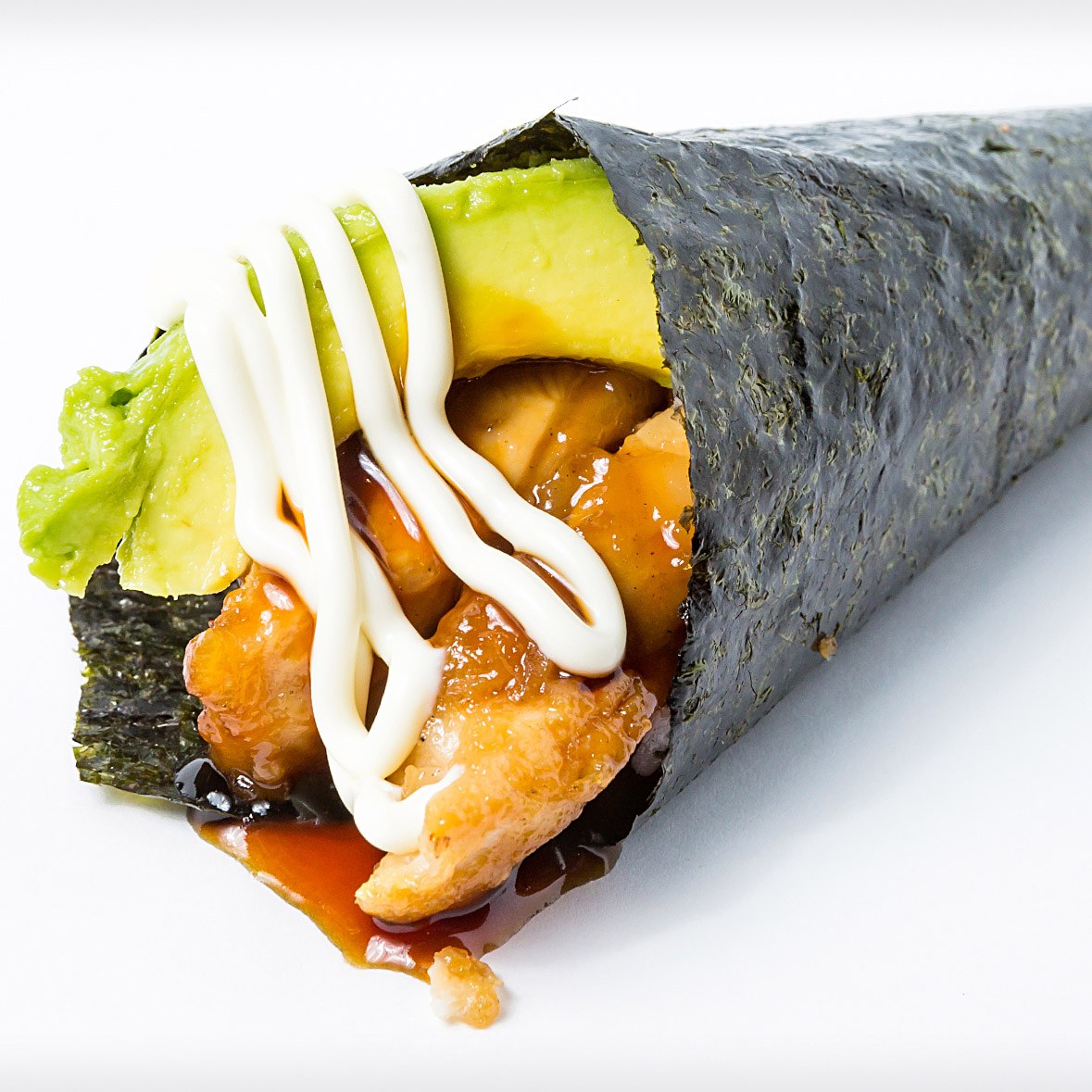 Teriyki Chicken Avoado Hand Roll