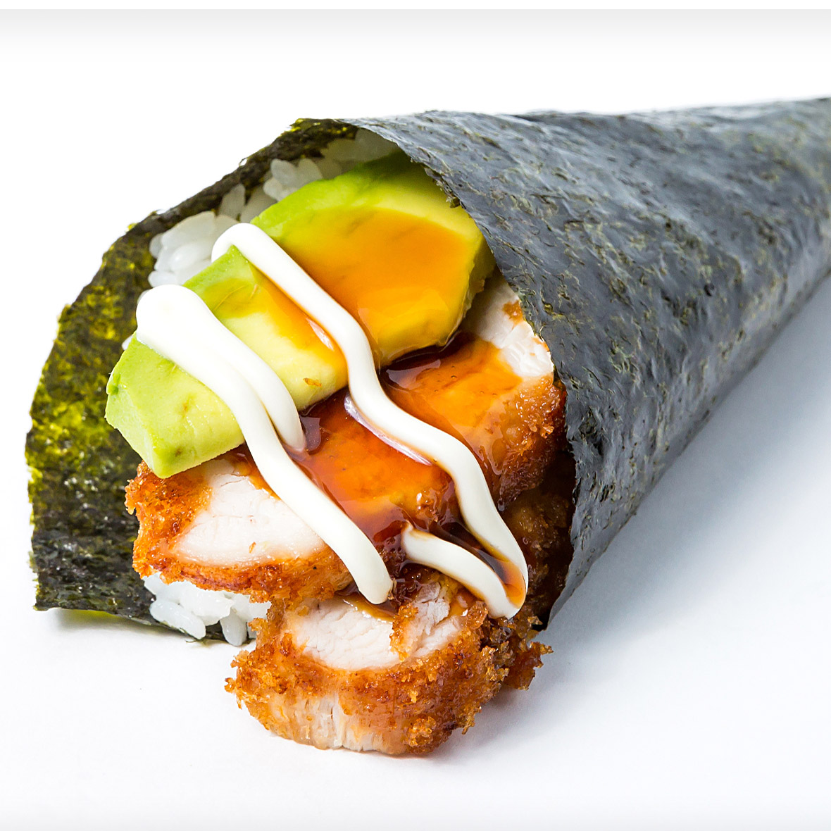 Chicken Katsu Avocado Hand Roll