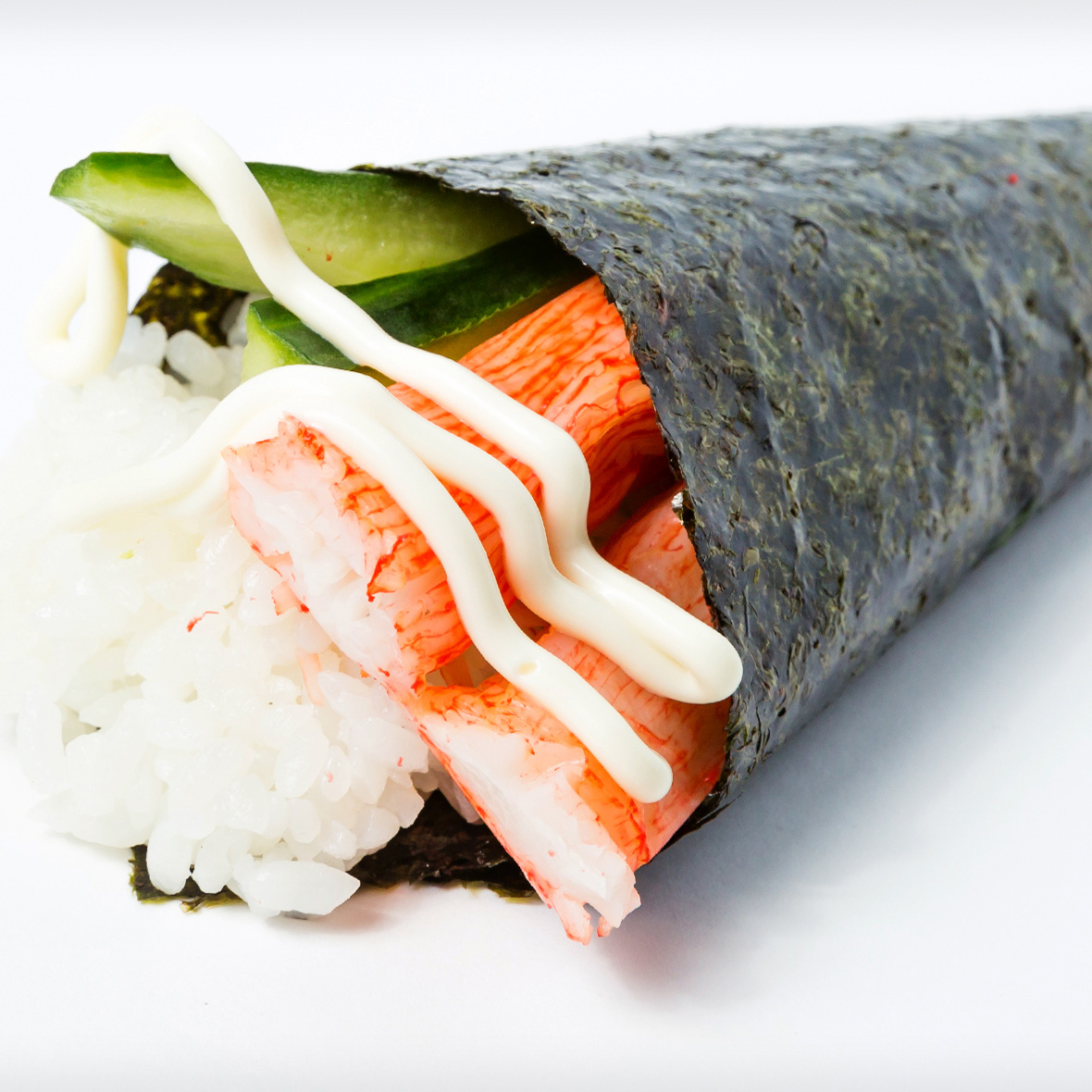 King Crab Meat Cucumber Hand Roll