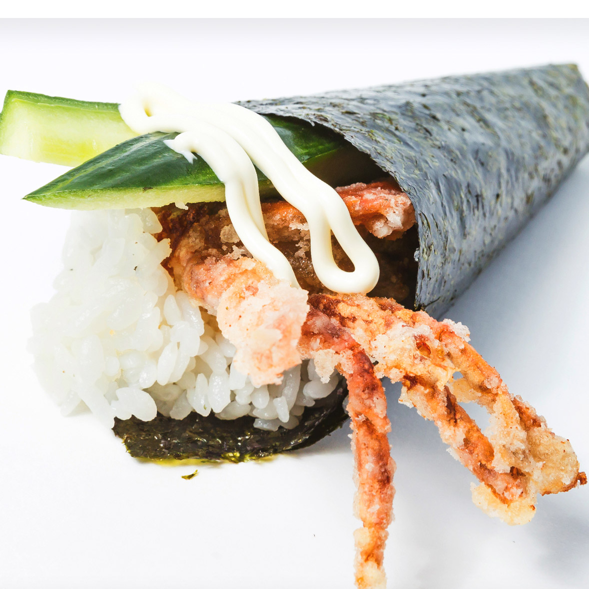 Soft Shell Cucumber Hand Roll