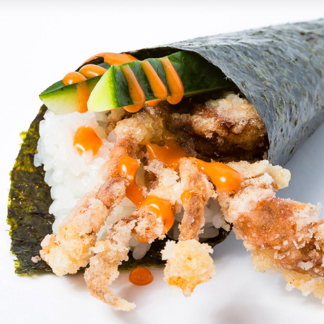 Spicy Soft Shell Cucumber Hand Roll (Spicy)