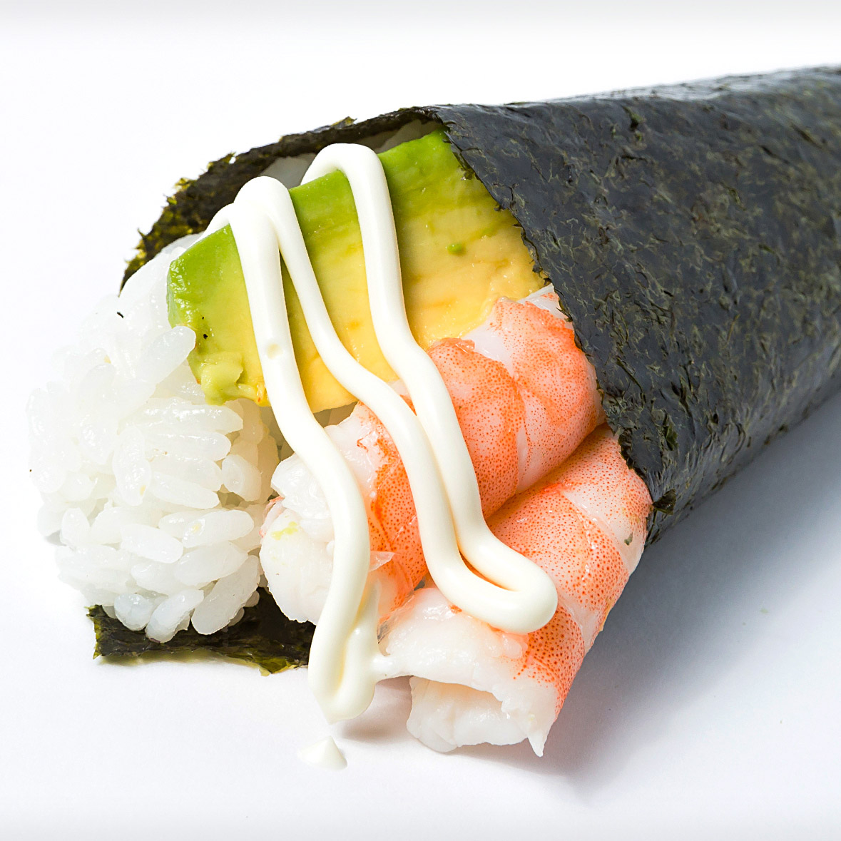 Fresh Prawn Hand Roll