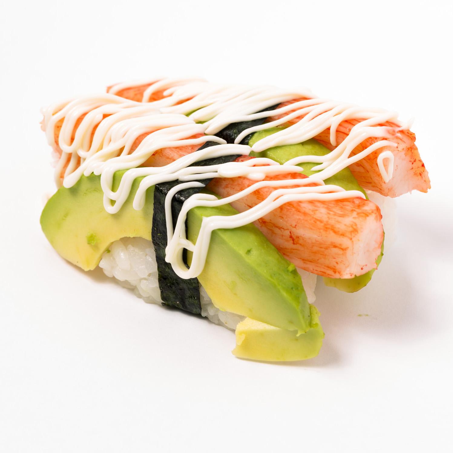 Kanikama & avocado Nigiri