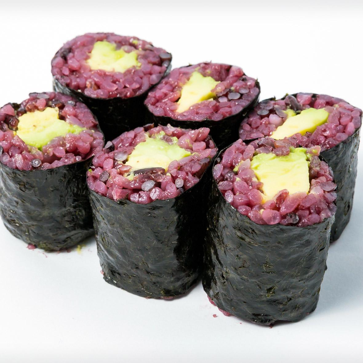 Black Rice Avocado Roll (Vege)