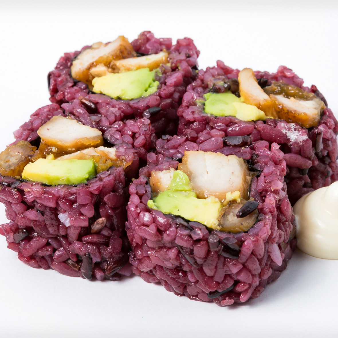 Black Rice Chicken Avocado Roll