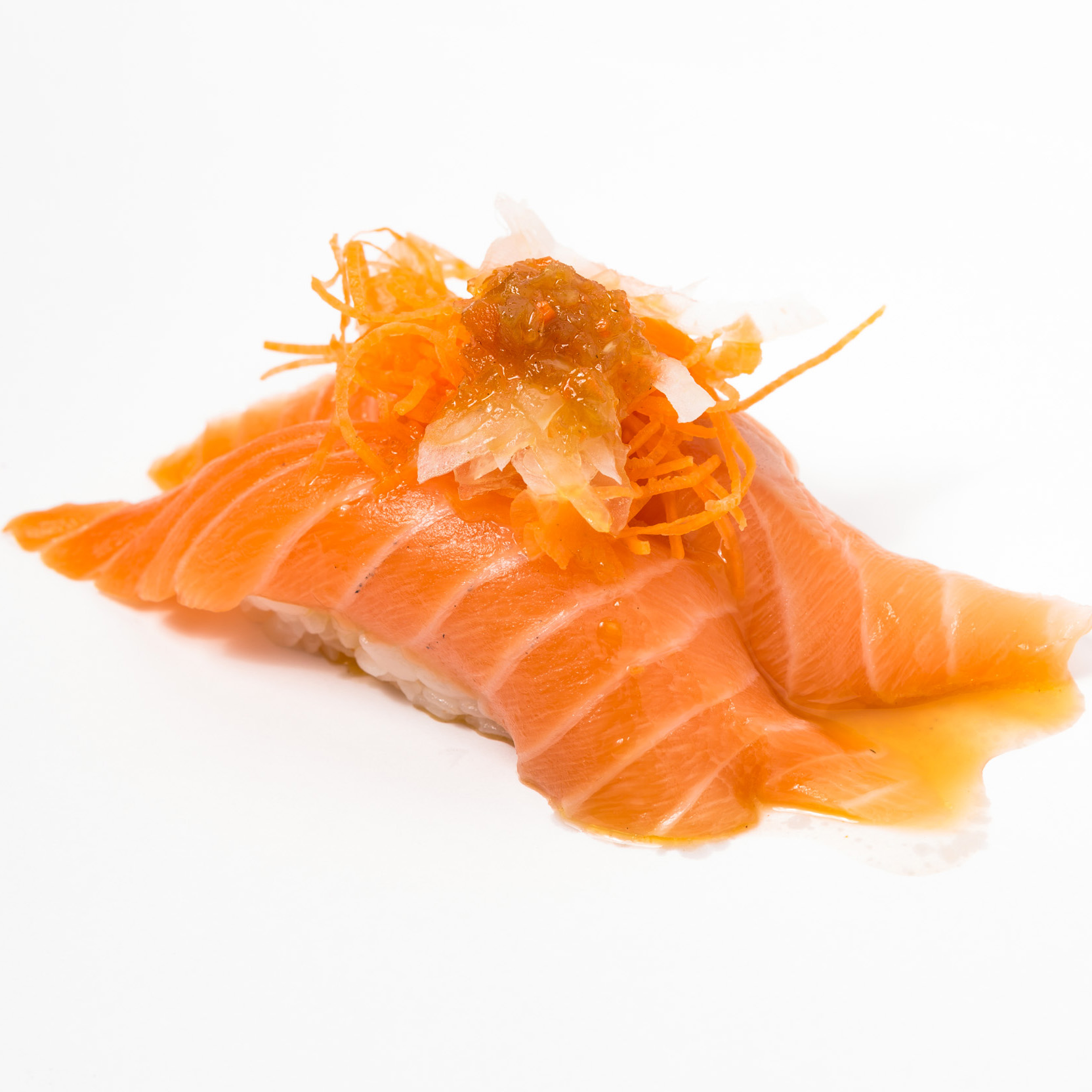 Salmon carpaccio Nigiri