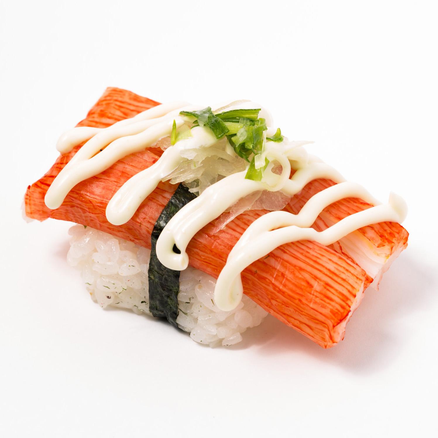Kanikama wasabi Mayo Nigiri